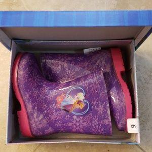 Disney Frozen rain boots size9